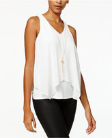 BCX Juniors' Layered Tank Top with Necklace