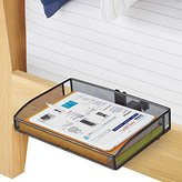 Bunk Bed Shelf Mesh Features Adjustable Clamp that Provides Convenient Storage, Black Finish, Perfect for Bedroom