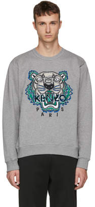 Kenzo Grey Leopard Tiger Sweatshirt
