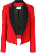 Lanvin contrast lapel jacket - women - Acetate/Cupro/Wool - 36