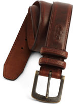 Columbia Brown Leather Belt w/Contrast Stitching-Big & Tall
