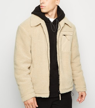 New Look Contrast Pocket Borg Jacket