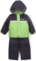 London Fog Green Puffer Coat & Black Snow Suit - Toddler & Boys