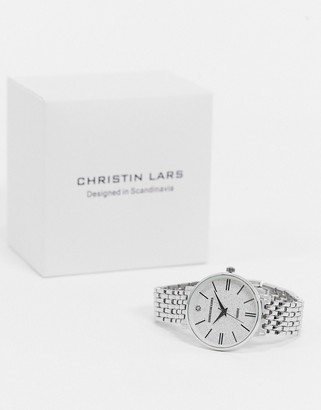 Christin Lars rose-silver watch