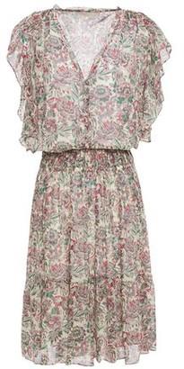 Vanessa Bruno Gathered Floral-print Georgette Mini Dress