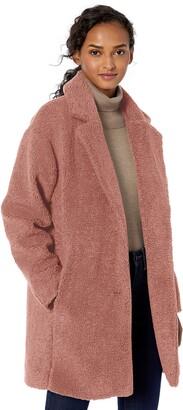 Daily Ritual Amazon Brand Women's Teddy Bear Fleece Lapel Coat