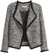 H&M Textured-weave Jacket - Black melange - Ladies