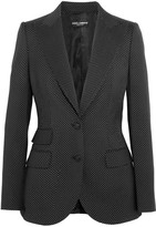 Dolce & Gabbana Polka-dot Wool Blazer - Black