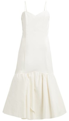 Rebecca De Ravenel Daffodil Cotton-blend Pique Dress - White
