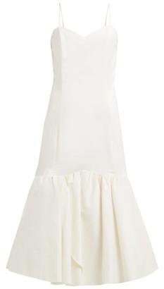 Rebecca De Ravenel Daffodil Cotton-blend Pique Dress - Womens - White