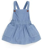 Mamas and Papas Baby Girls' Cord Pinafore Drs-Navy Dress,6-9 Months