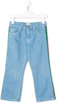 Gucci Kids Striped Panel Jeans
