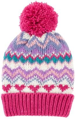 Accessorize Girls Bright Fairisle Beanie Hat - Multi