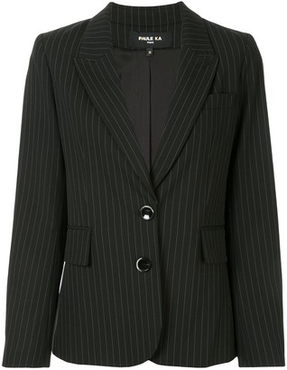Paule Ka Striped Fitted Blazer