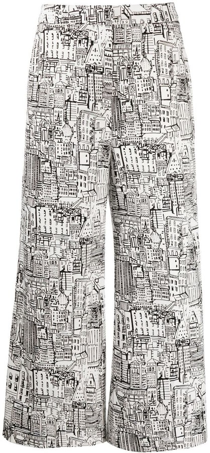 Pt01 City Print Trousers