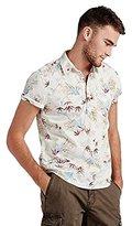 Lucky Brand Men's Short-Sleeve Lotus Popover Shirt