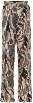 Dries Van Noten Sequined high-rise straight pants