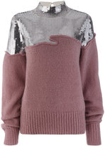 Aviu two tone sequin sweater