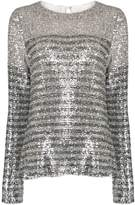 In The Mood For Love Elise striped sequin top