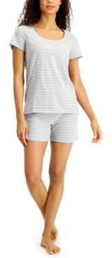 Charter Club Striped Shorts Pajama Set, Created for Macy's