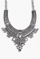 Boohoo Orla Diamante and Pearl Statement Necklace