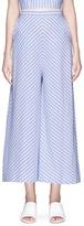 Nicholas 'Astrid' chevron stripe cotton culottes