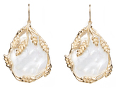 Aurelie Bidermann Francoise mother-of-pearl & gold-plated earrings