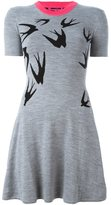 McQ by Alexander McQueen swallow intarsia skater dress