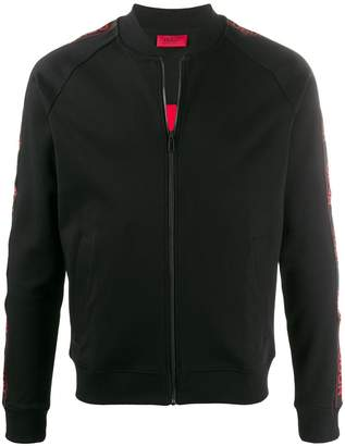 HUGO BOSS logo tape bomber jacket