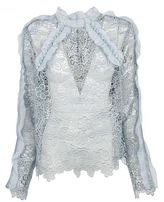 Self-Portrait Lace Sheer Blouse