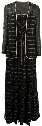 A.N.G.E.L.O. Vintage Cult 1970s Metallic Threading Dress And Jacket Set