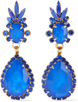 Thumbnail for your product : Elizabeth Cole Elina 24-karat Gold-plated, Swarovski Crystal And Stone Earrings