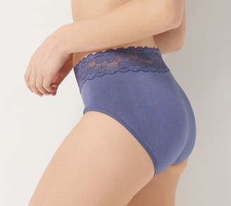 Breezies Seamless Comfort Full Brief with Lace Set of 3