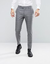 Jack and Jones Slim Suit Trouser With Check