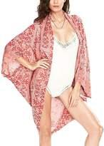 IvyFlair Women's Paisley Floral Swimsuit Cover Up Beach Bikini Kimono Cardigan
