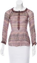 Etoile Isabel Marant Abstract Print Silk Blouse
