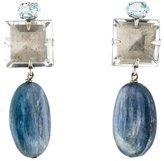 Bounkit Dyed Kyanite, Quartz & Aquamarine Drop Earrings