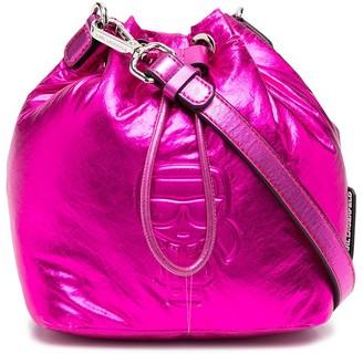 Karl Lagerfeld Paris K/Ikonik metallic bucket bag