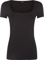 Essentials Bi-Stretch Cotton Square Neck T-Shirt