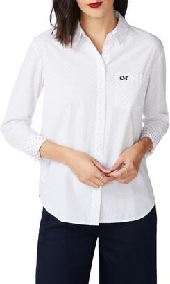 Court & Rowe Clip Dot Long Sleeve Cotton Button-Up Shirt