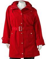 London Fog Towne by hooded raincoat - women's plus