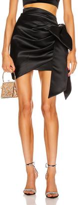Marianna SENCHINA Bow Wow Mini Skirt in Black   FWRD