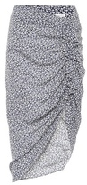 Veronica Beard Printed asymmetric silk skirt