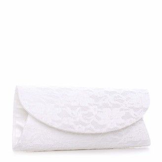 Paradox London Pink Womens DOROTHY Clutch Off-White (Ivory)