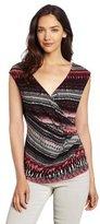 Chaus Women's Macramae Wrap Top