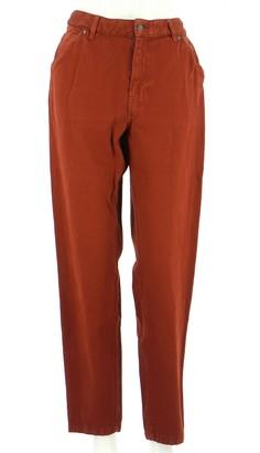 Comptoir des Cotonniers Brown Cotton Trousers for Women