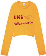 PINK University Of Minnesota Long Sleeve Campus Cutout Tee