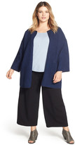 Eileen Fisher Open Front Collarless Jacket (Plus Size)