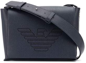 Emporio Armani perforated logo crossbody bag