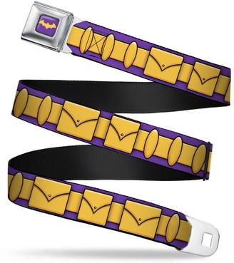 "Buckle Down Buckle-Down Seatbelt Belt - Batgirl Utility Belt Purple/Gold - 1.5"" Wide - 24-38 Inches in Length"